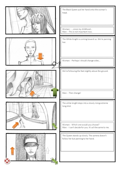 Choice Storyboard for my 3D short movie